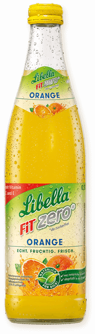 Libella FIT 0% Zucker Orange - Glas 0,5 Liter